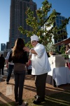 Chef greeting guest at Menu of Menus event