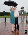 Danny, Isabel, Coco, Sam Houston and rain