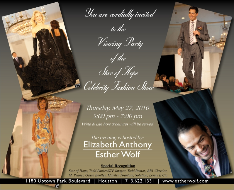 Star of Hope Fashion Rewind Invitation