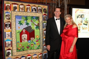Todd, Cindy and Mogie's $95,000 quilt
