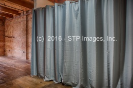 Privacy curtain can be used as a backdrop, too!